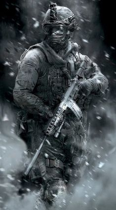 I will be doing imagines about the Call Of Duty characters from the games. There are some Call Of Duty games that I haven't played but if you request one tell. Military Guns, Military Art, Ghost Soldiers, Indian Army Wallpapers, Handy Wallpaper, Mobile Wallpaper, Military Drawings, Military Special Forces, Future Soldier