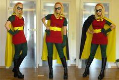 DIY Robin Costume for Women | Costume of the female Robin, Stephanie Brown.