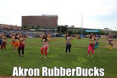 Ohio Belly Dance troupe Yallah Mariah Pregame Performance at Akron RubberDucks June 19, 2015