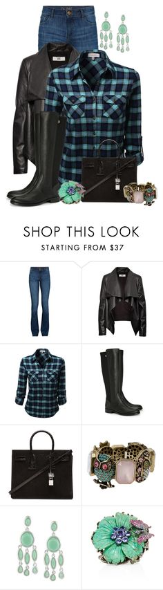 """Untitled #2304"" by jodilambdin ❤ liked on Polyvore featuring DL1961 Premium Denim, HIDE, Tory Burch, Yves Saint Laurent, Betsey Johnson, Karen Kane, Wendy Yue, women's clothing, women and female"