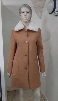 Saint James, Camel, Saints, Coat, Jackets, Fashion, Faux Fur, Bicolor Cat, Spring Summer