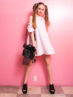 tacfrill shoulder one-piece(ミニワンピース)|Honey mi Honey(ハニーミーハニー)|ファッションウォーカー