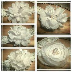 Witte elastische haarbandjes. Voor 5,- te bestellen via suzancreatief@hotmail.nl
