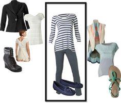 """Grey Skinny Jean - CAbi Clothing"" by am-prettyinink on Polyvore"