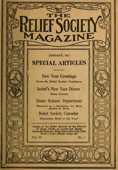 Before ward blogs they had Relief Society Magazines.