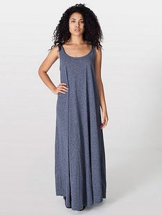 A-Line Maxi Dress #americanapparel #asia
