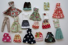 tutorial barbie clothes---->use up those scraps and make a shadow box full of them in coordinated colors for girls nursery?