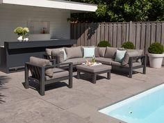 Gartenmöbel günstig alu  KAWAN XL Lounge Garten Sofa 3-Sitzer Teak Recycled #garten ...