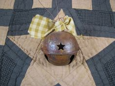 Primitive Rusty Bell Ornament