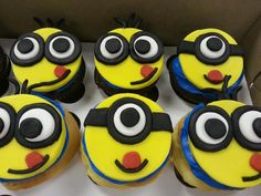 Despicable Me; Minion Cupcake Toppers
