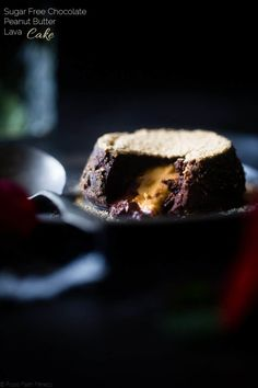 Sugar Free Peanut Butter Chocolate Lava Cakes For Two - These gluten free lava cakes are so rich and delicious you'll never know they're protein packed, low carb and sugar free! The perfect healthy dessert for Valentine's Day! | Foodfaithfitness.com | @FoodFaithfit