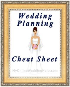 Wedding planning check list cheat sheet...shows activities by priority instead of time, which is really helpful because everyone is on a different timeline! #MyOnlineWeddingHelp