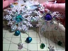 DIY~Make Gorgeous Blinged Out Plastic Snowflake Ornaments! http://www.HappyBirdsCraftingHaven.com