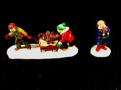 NEW DEPARTMENT 56 SNOW VILLAGE SERIES CHRISTMAS PUPPIES #5432-1 SET OF 2