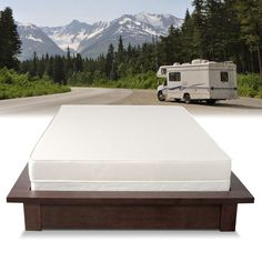 Enjoy comfort on the road with this reversible RV queen-size foam mattress. Patterned ticking creates a plush feeling, while high-density foam provides firm support that adjusts to your body to suppor