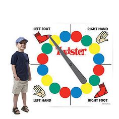 Our Hasbro Twister Game Standee has the look of a large Twister spinner board.