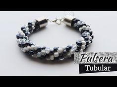 Crochet - Pulsera  tubular con mostacillones - Tejido circular - YouTube Beaded Jewelry, Beaded Bracelets, Beading Tutorials, Clay Art, Seed Beads, Jewelry Making, Pomegranates, Handmade, Youtube