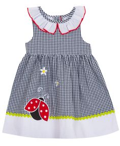 Seersucker Dress, Gingham Dress, Kids Coats Girls, Review Dresses, Sweet Style, Summer Essentials, Kids Fashion, Fashion Ideas, Navy And White