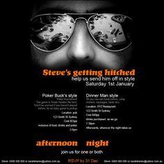 Bucks party invite