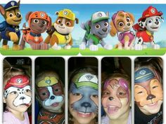 paw patrol birthday party paint face ideas - Buscar con Google