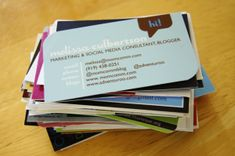 What to put on your blog business card. #savvyblogging