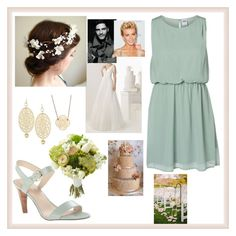 """""""Attending the wedding of Julia and Marcus Feller as Maid of Honour"""" by charlottedebora ❤ liked on Polyvore featuring Vero Moda, Rosa Clará, Nine West, Jozica and JULIANNE"""