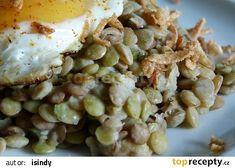 Sladkokyselá čočka s uzeným a volským okem recept - TopRecepty.cz Potato Salad, Potatoes, Meat, Chicken, Ethnic Recipes, Food, Potato, Essen, Meals