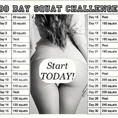 30 Day squat Challenge. I hate squats but Im going to try this!