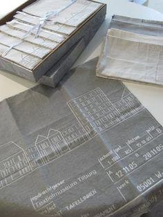 2005 Commissioned by Dutch Textile Museum (1st prize) 50% cotton, 50% linen Table cloth 280x160cm / napkin 50x50cm price € 325,- table cloth including 6 napkins sales by Studio Sybrandy