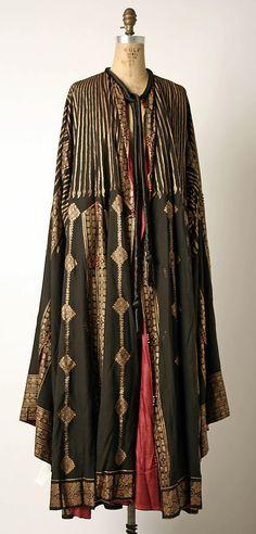 Evening coat  Mariano Fortuny (Spanish, Granada 1871–1949 Venice)  Design House: Fortuny (Italian, founded 1906) Date: 1900–1933 Culture: Italian Medium: silk, glass