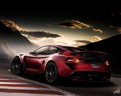 Fondo de pantalla con un coche fuerte que consiste de adrenalina
