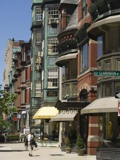 Newbury Street, Boston, Massachusetts, New England, USA Photographic Print