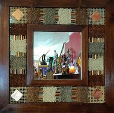 New York loft of artist and sculptor Michele Oka Doner. Weaving Art, Tapestry Weaving, New York Loft, Diy Projects To Try, Art Drawings, Textiles, Embroidery, Frame, Artist