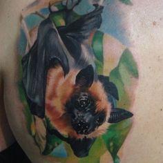 Josh Fields_Tattoo-realism-bat • Perfect Tattoo Artists – Realistic bat tattoo by Josh Fields