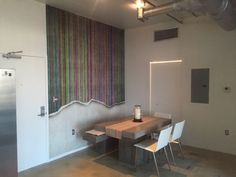 A brilliant place to have a coffee, don't you think? Worn Wall, Multi Stripe styled by one of our customers.