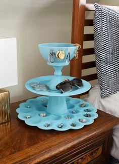 How-To: Easy DIY 3-Tiered Jewelry Organizer #FashionJewelrytips
