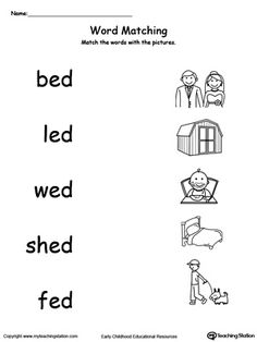 ed word family workbook for kindergarten  coloring thinking  &