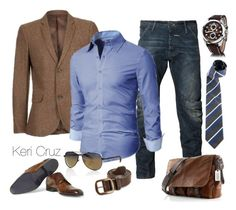 """""""Men's Business Casual"""" by keri-cruz ❤ liked on Polyvore featuring G-Star Raw, Superdry, Lanvin and Cerruti 1881"""