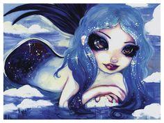 Ice Mermaid by Natasha Wescoat Painting Print