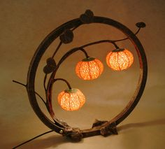 Red Paper Lamp Shade with Night Boat Three Lantern Lights - Antique Alive