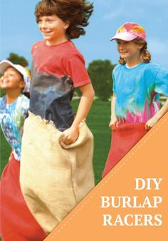 Get your race on with these quick and easy DIY burlap racing sacks for all your summer parties!