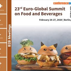 #EuroFood -2019 successfully held on February 28-March 01, 2019 at #London, #UK where experts from different parts of the globe collaborated to present their views and latest breakthroughs with keynotes and featured presentations in the field of food research mainly focusing on #food and Beverages. So after five consecutive successful events #ConferenceSeries LLC Ltd decided to organize Euro Food-2020 on February 26- 27, 2020 at #Berlin, #Germany.