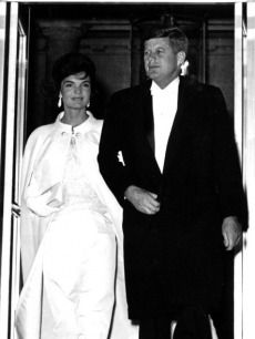 President John F Kennedy and First Lady Jacqueline Kennedy leave their new residence of the White House to attend the Inaugural Ball ~ 20th Jan., 1961
