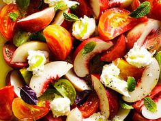 Nectarine Caprese Salad | Made with white nectarines, this savory-sweet Caprese just might trump the classic version. Burrata cheese adds richness, but feel free to sub in fresh mozzarella.