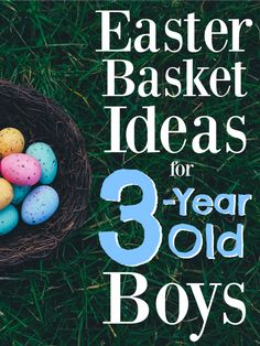 My 3 year old boys easter basket with no candy easter 10 easter basket ideas for 3 year old boys negle Images