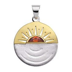Symbol Sonne Ø 23 mm teilvergoldet Seelenfunken
