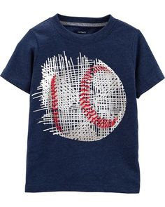 Baseball Softball Heartbeat Lifeline Newborn Baby Short Sleeve Crewneck T-Shirt