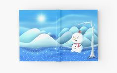 'Snowbaby on Sparkling Ice' Hardcover Journal by We ~ Ivy Presents For Friends, My Themes, Website Themes, Good Cause, Sparkling Ice, Beach Towel, Ivy, Journals, Snowman