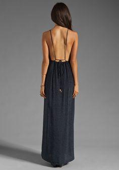 INDAH River Split Front Wrap Side Evening Dress in Padi Black at Revolve Clothing - Free Shipping!