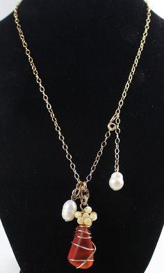 Adjustable Necklace Fresh Water Pearls by LaurieRobertsJewelry, $48.99